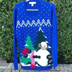 Jolly Sweater Snowman With Shade Size XL